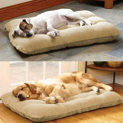 Large Dog Bed Puppy Pets Cat Cushion Pillow Mattress Warm Soft Fleece 100×65cm