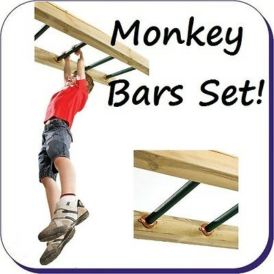 Metal Monkey Bars Kit - Set of 4 with Fixings - Swing Set Accessory