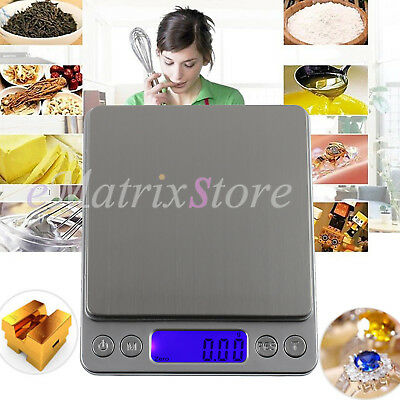 0.01-500g Digital LCD Kitchen Food Scale Electronic Balance Weight Postal Scales