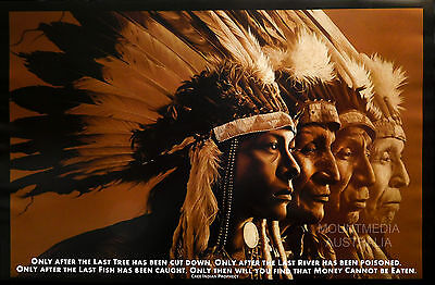 NATIVE WISDOM - MOTIVATIONAL QUOTE POSTER (61x91cm)  NEW LICENSED ART