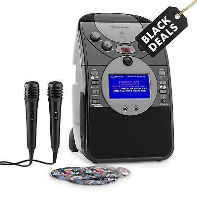 Auna Screenstar Cd+G Player Karaoke Musikanlage Mikrofonset Mp3 Usb Sd Schwarz