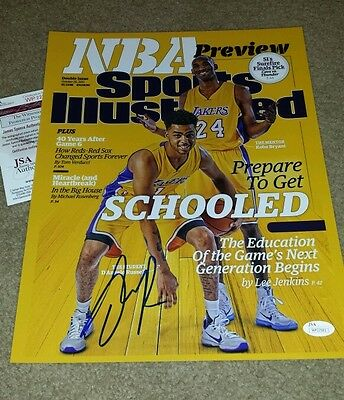 *D'ANGELO RUSSELL* Autographed Signed 11x14 Photo *JSA* Authentication