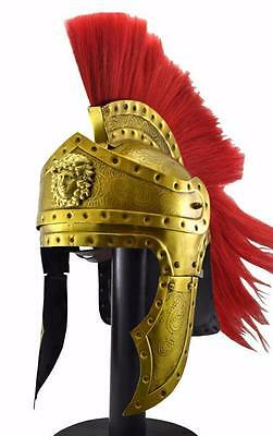 Ancient Greek Spartan Corinthian Bronze Helmet Armour Replica very new on ebay""