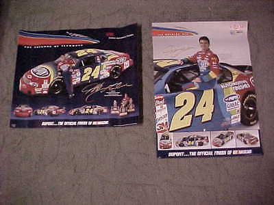 Two Jeff Gordon Posters Nascar Dupont Advertisement Man Cave