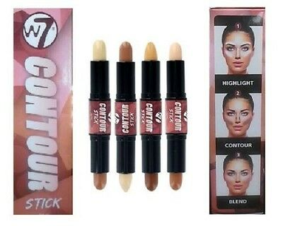 W7 DUAL contour stick bronze & highlight contour kit various shades