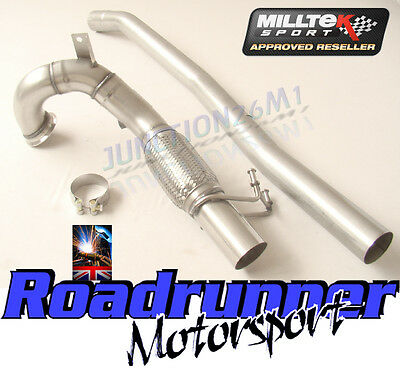 """Milltek SSXVW348 Golf MK7 R 3"""" De Cat Downpipe & Connect Pipe Exhaust Fits To OE"""