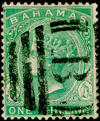 BAHAMAS SG44a, 1s blue-green, USED. CDS. Cat £42. PERF 14CA.