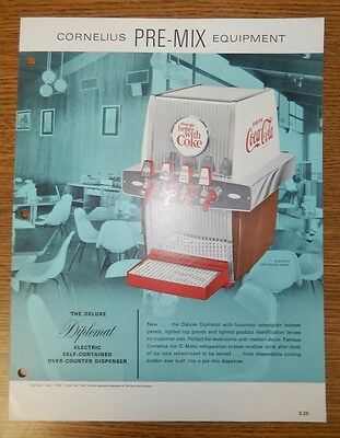 Coca Cola The Deluxe Diplomat Electronic Dispenser Advertising Flyer