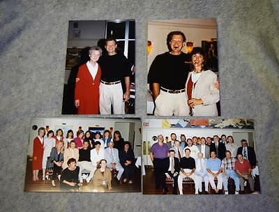 1995 Candid David Letterman Photographs x4 Darrell Wible Estate