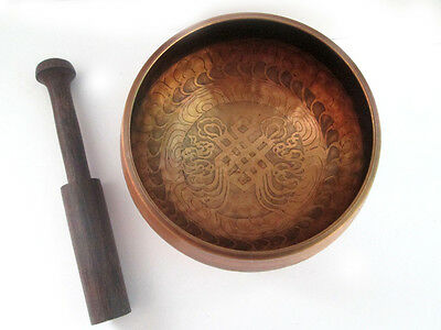 ASTM6 Tibetan Singing Bowl For Meditation Endless Knot Buddhism Bowl Set