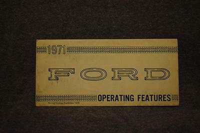 1971 Ford Operating Features Fold-Out Booklet