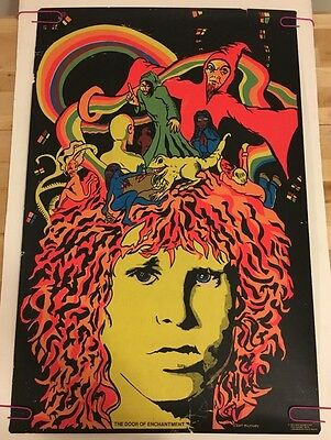 Door of Enchantment Vintage Black light poster Jim Morrison 1970 Mulraney Dagres