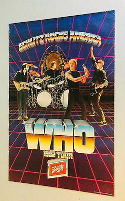 The Who Tour vintage poster Schlitz Brewing Beer 1982 music memorabilia pin-up