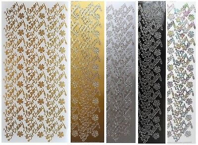 HOTSPOTZ ACID /& LIGNIN FREE GOLD OR SILVER  PATTERNED BORDER PEEL OF STICKERS,