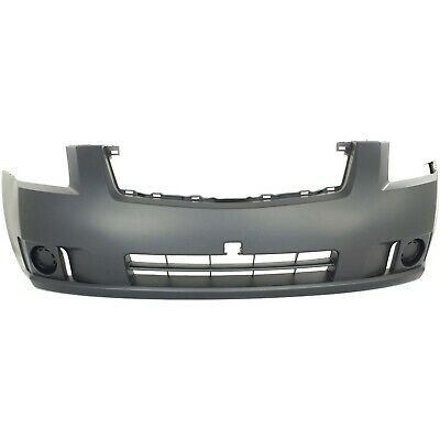 NEW Primered - Front Bumper Cover for 2007-2009 Nissan Sentra 2.0 Without Fog