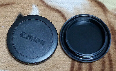 2x camera body cap Cover for Canon EOS EFS EF EF-S mount EF lens DSLR SLR