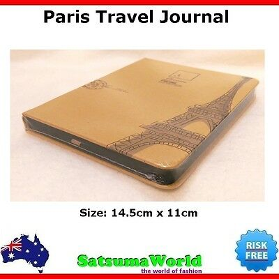 Journal Travel Diary Girls Notebook Hard Cover Paris cahier hot stationery New