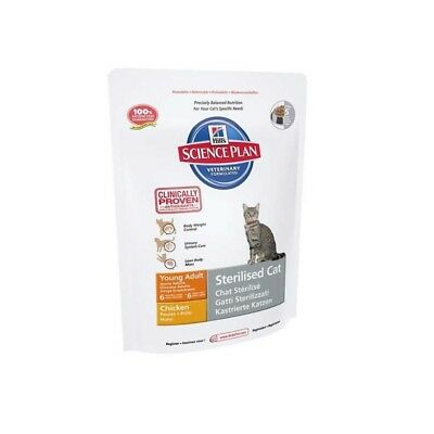 HILL S science plan feline young adult sterilised cat mangime secco pollo 300 g