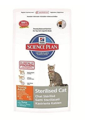 HILL S science plan feline young adult sterilised cat mangime secco tonno 300 g