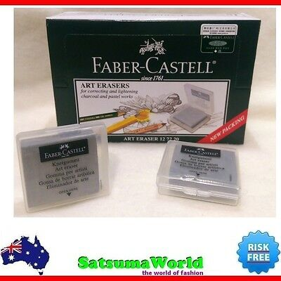 2x FABER CASTELL Kneadable Art Eraser knetgummi correcting charcoal pastel new