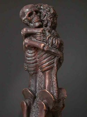 Bronze Cryptic Art Sculpture Death Skeleton Love Never Dies