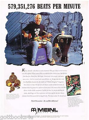 Meinl Percussion - Kenny Aronoff  - 1995 Print Advertisement
