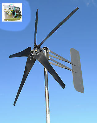 Wind Energy Windmill 5 Blade 1645W 12 volt AC 3-wire 14-SC PMA 6.3 kW W/SEA reg