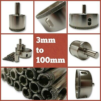 DIAMOND HOLE-SAW 4mm-100mm Tile Ceramic Porcelain Glass Marble Drill Bit Cutter
