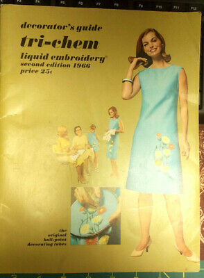 Vintage Decorator's Guide Tri-Chem Liquid Embroidery 1966 - catalog of patterns