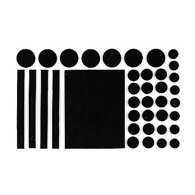 38PC Black Felt Furniture Floor Skid Protector Pads Self Adhesive