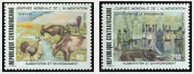 Timbres Centrafrique 819/20 ** lot 10844