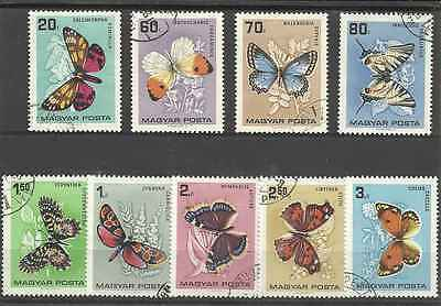Timbres Papillons Hongrie 1790/8 o lot 10851