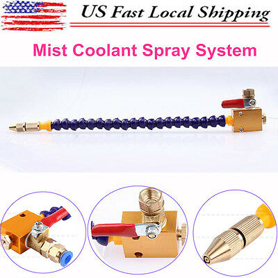 Mist Universal Coolant Spray System For 8mm Air Pipe Lathe Mill Drill Cooling