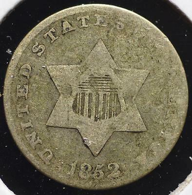 1852 Silver Three Cent, FREE SHIPPING!!!!! 3CA72