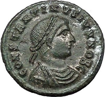 CONSTANTIUS II son of Constantine the Great Ancient Roman Coin Camp Gate i54448