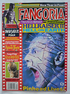 Fangoria Magazine #110 Hellraiser 3 / Naked Lunch / Severed Ties / Addams Family