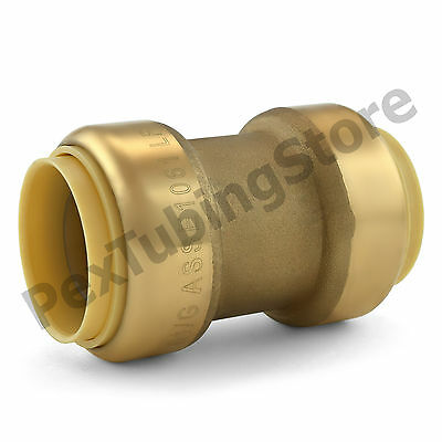 "(10) 1"" Sharkbite Style (Push-Fit) Push to Connect Lead-Free Brass Couplings"