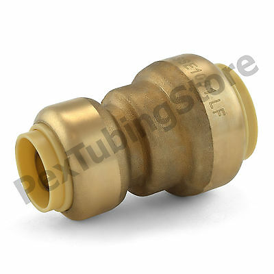 "(25) 3/4"" x 1/2"" Sharkbite Style (Push-Fit) Push to Connect LF Brass Couplings"