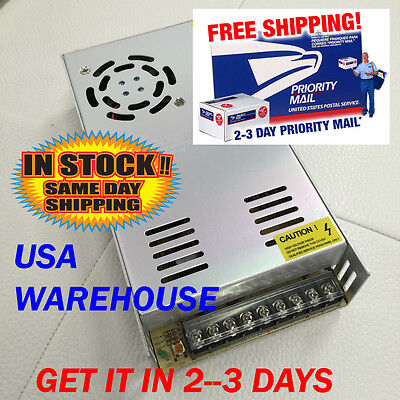 12V DC 30A Regulated Switching Power Supply 360W LED Strip Light Cooling Fan