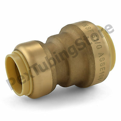 "(10) 1"" x 3/4"" Sharkbite Style (Push-Fit) Push to Connect LF Brass Couplings"