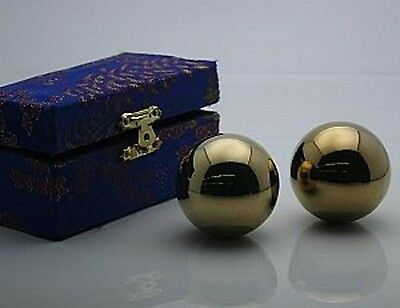 #3 Golden Chinese Healthy Exercise Massage Metal Balls