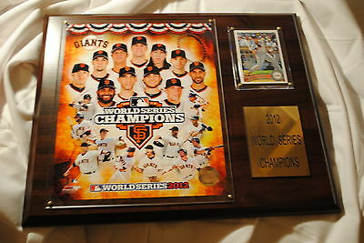 San Francisco Giants 2012 World Series Champions Commemorative Plaque