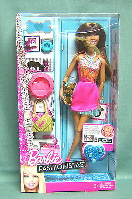 BARBIE FASHIONISTAS- NIKKI with HER PET PUPPY AND ACCESSORIES