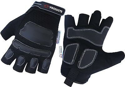 Mechanics Work Safety Contractors Washable Heavy Duty Half Finger Working Gloves