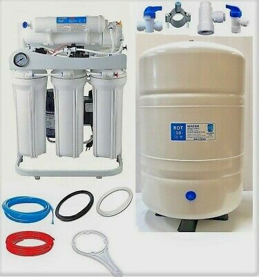 RO Reverse Osmosis Water FIltration System 300 GPD LP 10 G Tank Booster Pump LC
