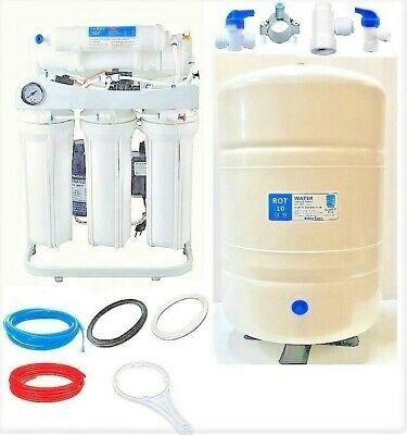 RO Reverse Osmosis Water FIltration System 400 GPD LPF 10 G Tank Booster Pump LC