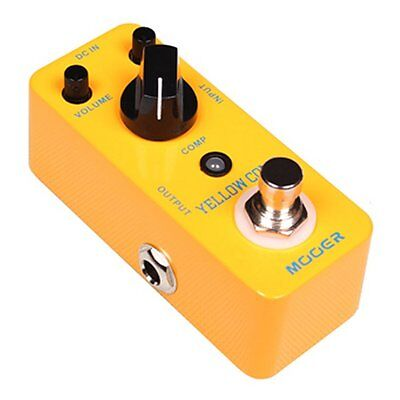 Mooer Micro Compact Yellow Comp Optical Compressor Effects Pedal,  MCS2