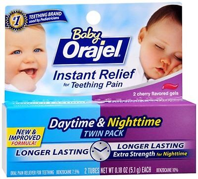 Baby Orajel Daytime - Nighttime Fast Teething Pain Relief 0.36 oz