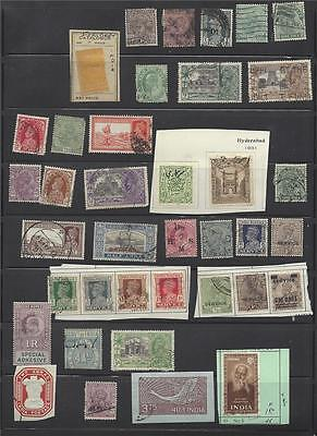 INDIA with overprints and Faridkot stamp lot collection