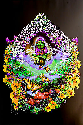 MUSICAL FROG - BLACKLIGHT POSTER (91x61cm) MIKE DUBOIS NEW LICENSED ART
